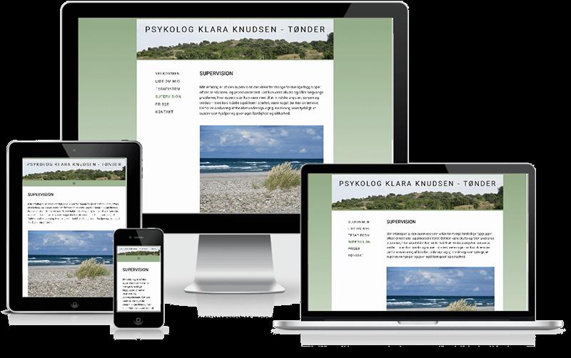 Hjemmeside designet til psykolog i Tønder - Klara Knudsen