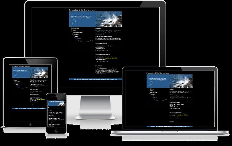 Hjemmeside designet til psykolog Ulla Burmeister - Østerbro, København