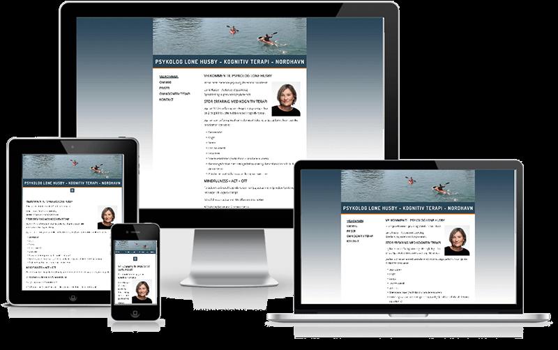 Hjemmeside designet til psykolog Lone Husby - Nordhavn - København