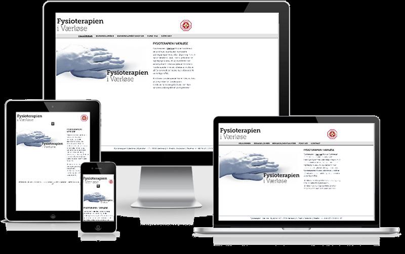 Hjemmeside designet til fysioterapeut i Værløse