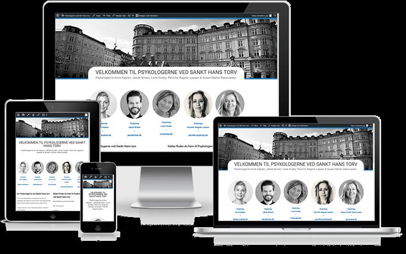 Hjemmeside designet til psykologerne ved Sankt Hans Torv