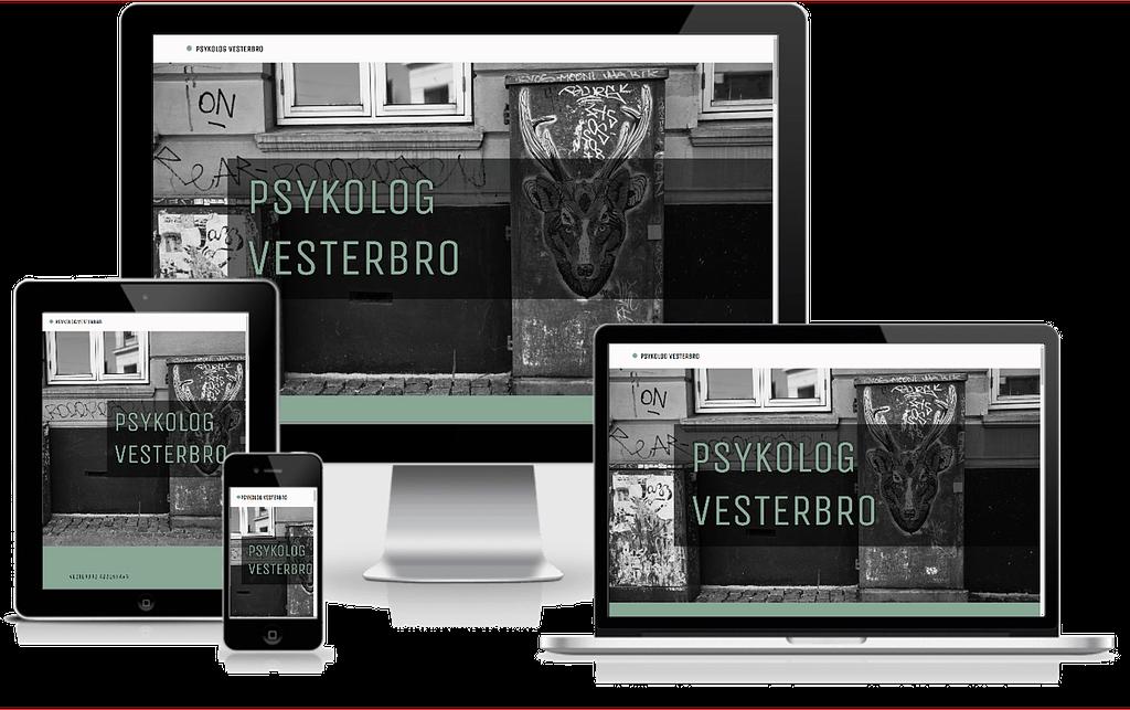 Design af hjemmeside - oversigt over psykologer på Vesterbro