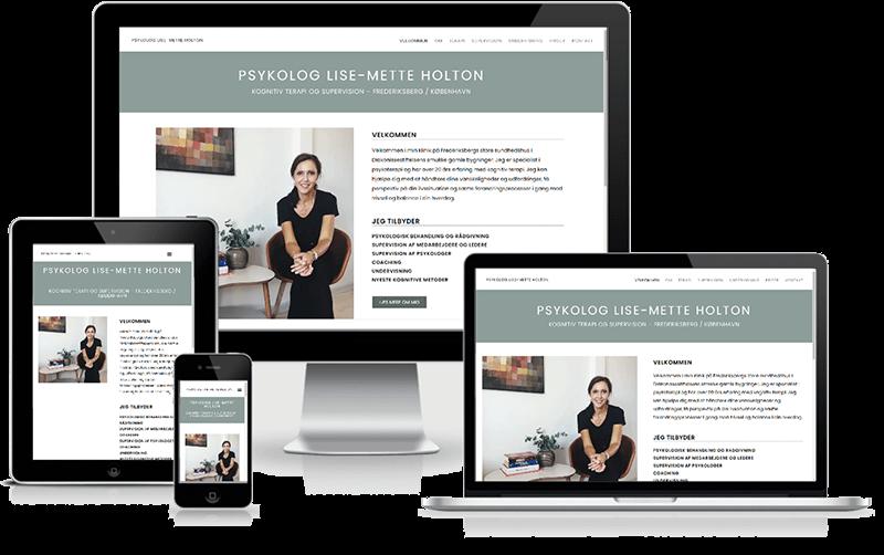 Wordpress-hjemmeside designet til psykolog Lise-Mette Holton