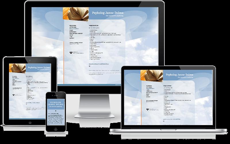 Hjemmeside designet til psykolog Janne Dolma, Fakse