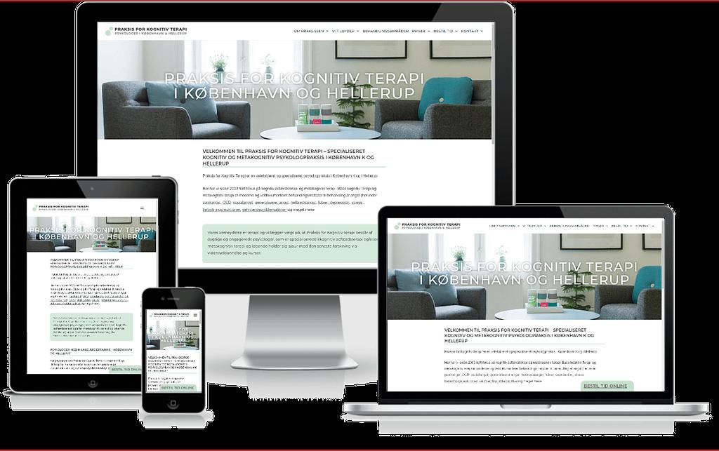 Hjemmeside designet til psykologer i Hellerup - København